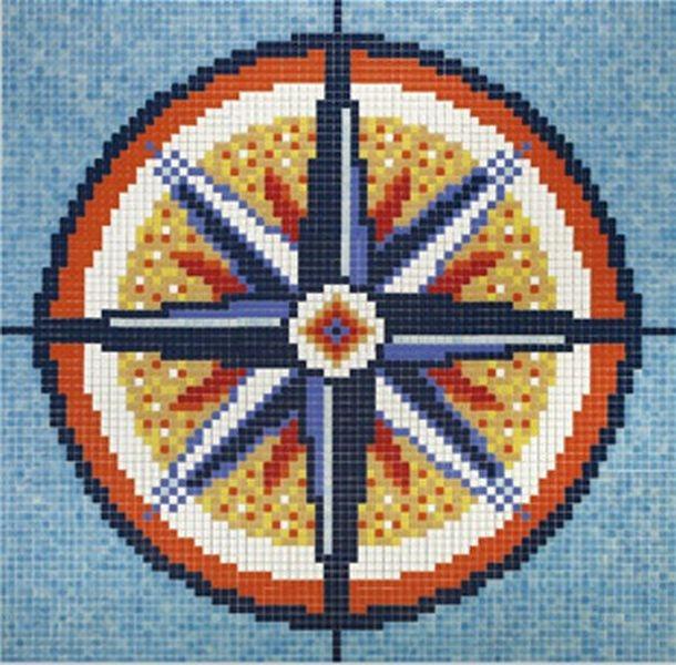 Стеклянная мозаика Ezarri Панно D - 18 / 2508 - А 206х206 см стеклянная мозаика ezarri панно d – 56 2508 а 250х250 см