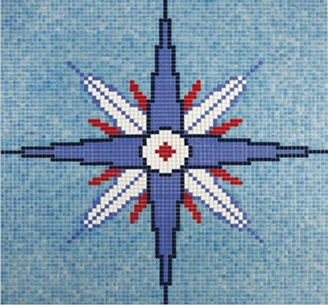 Стеклянная мозаика Ezarri Панно D - 06 / 2508 - А 206х206 см стеклянная мозаика ezarri панно d – 56 2508 а 250х250 см