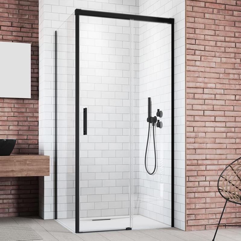 Дверь душевого уголка Radaway Idea Black KDJ 160 L профиль Черный стекло прозрачное фото