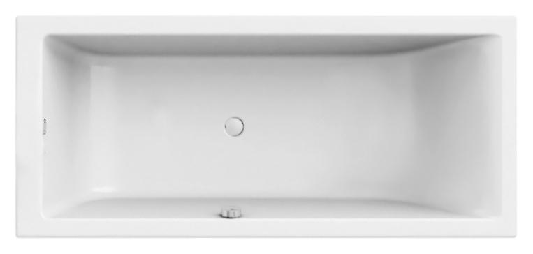 Акриловая ванна Jacuzzi Moove 180x80 9450-422A белая глянцевая акриловая ванна vayer boomerang d1600 встраиваемая в пол
