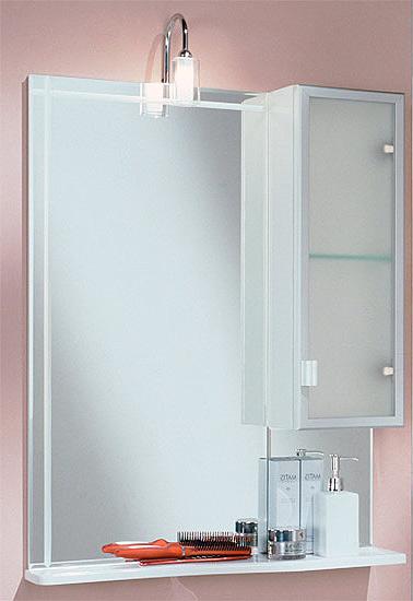Альтаир 65 Белое правоеМебель для ванной<br>Акватон 1A100002AR01R Альтаир 65 зеркало со шкафом с правой стороны<br>
