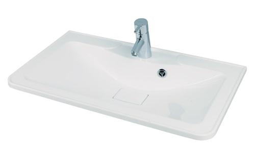 Сиена М 750 БелаяМебель для ванной<br>Акватон 1A70613KSN010 Сиена М 750 раковина для тумбы-умывальника<br>