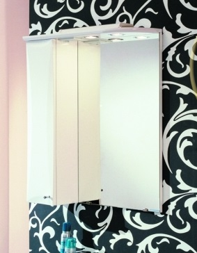 Зеркало-шкаф Акватон Джимми 57 1A034002DJ01L Белое левое