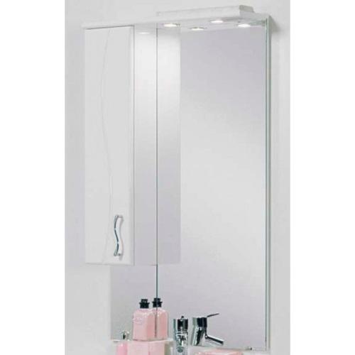 Дионис М Белое левоеМебель для ванной<br>Акватон 1A008002DS01L Дионис М зеркало-шкаф белое левое<br>