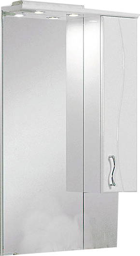Дионис  Белое левоеМебель для ванной<br>Акватон 1A006002DS01L Дионис зеркало-шкаф левое<br>