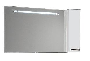 Диор  Бело-бордовоеМебель для ванной<br>Акватон 1A110702DR94R Диор зеркало-шкаф бело-бордовое правое<br>