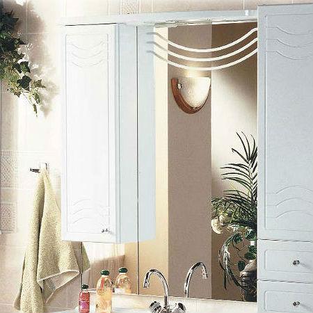 Домус 95 Белое левоеМебель для ванной<br>Акватон 1A001002DO01L Домус 95 зеркало-шкаф левое<br>