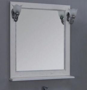 цены Зеркало Акватон Жерона 85 1A158702GEM20 Белое серебро