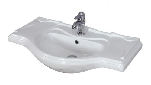 Лорето 85 БелаяМебель для ванной<br>Акватон 1AX134WBXX000 Лорето 85 раковина для тумбы-умывальника<br>