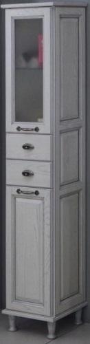 Шкаф-колонна Акватон Жерона 1A158903GEM2R Белое серебро правая