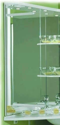Корнер Белое правоеМебель для ванной<br>Акватон 1A052902KR01R Корнер зеркало правое<br>