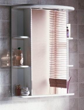 Кристалл Белый левыйМебель для ванной<br>Акватон 1A000102KS01L Кристалл шкаф-зеркало левый<br>