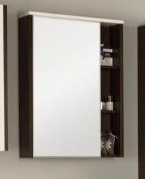 Крит 60 ВенгеМебель для ванной<br>Акватон 1A163202KT500 Крит 60 зеркальный шкаф<br>