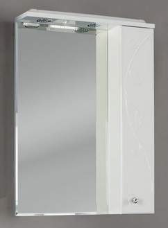 Лиана 60 Белый левыйМебель для ванной<br>Акватон 1A162702LL01L Лиана 60 зеркало-шкаф левый<br>