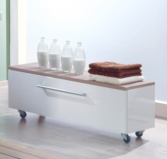 Логика  ВенгеМебель для ванной<br>Акватон 1A047203LOD90 Логика тумба выкатная<br>