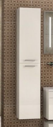 Мадрид М Зебрано темноеМебель для ванной<br>Акватон 1A129603MA890 Мадрид М шкаф-колонна<br>