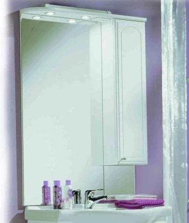 Майами 75 Белое правоеМебель для ванной<br>Акватон 1A047502MM01R Майами 75 зеркало-шкаф<br>