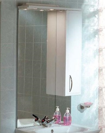Зеркало-шкаф Акватон Марсия 67 1A007502MS01L Белое левое