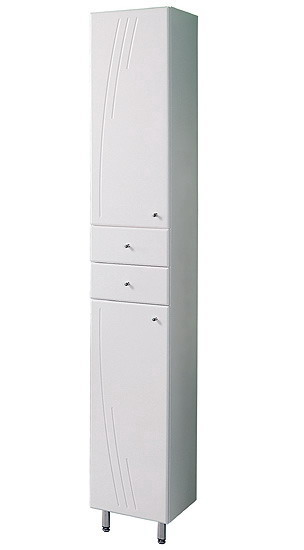 Минима М Белый левыйМебель для ванной<br>Акватон 1A132203MN01L Минима М шкаф-колонна левый.<br>