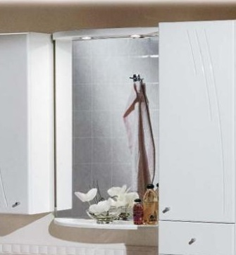 Минима БелаяМебель для ванной<br>Акватон 1A000502MN010 Минима полка-зеркало<br>