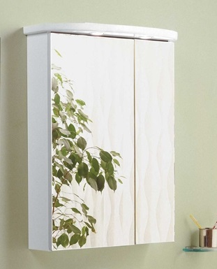 Норма БелыйМебель для ванной<br>Акватон 1A002102NO010 Норма шкаф-зеркало<br>