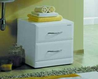 Отель БелыйМебель для ванной<br>Акватон 1A005003OT010 Отель выкатной пуф с двумя ящиками<br>