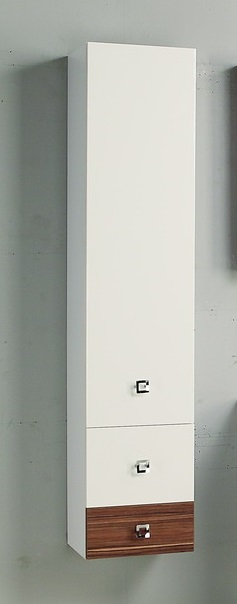 Стамбул  Эбони светлыйМебель для ванной<br>Акватон 1A127703ST490 Стамбул подвесной шкаф-колонна<br>