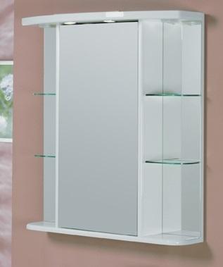 Эмили 80 БелоеМебель для ванной<br>Акватон 1A002702EM010 Эмили 80 зеркальный шкаф<br>