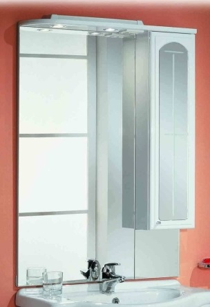 Зеркало со шкафом Акватон Эмилья 75 1A011202EJ01R Белое R