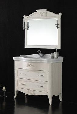 Primavera BB04PRIMB Bianco AnticoМебель для ванной<br>Тумба под раковину Belbagno Primavera BB04PRIMB/PBA с двумя выдвижными ящиками. Дополнительно Вы можете приобрести: керамическую раковину BB101L и зеркало BB45S/PBA.<br>