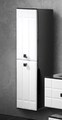 Деко Белый фасад, черный корпусМебель для ванной<br>Подвесной пенал Edelform Деко. Размер: 330х345х1300 мм.<br>