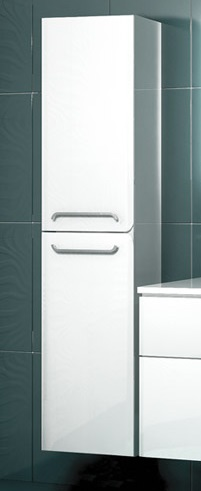 Некст БелыйМебель для ванной<br>Подвесной пенал Edelform Некст. Размер: 380х350х1610 мм<br>