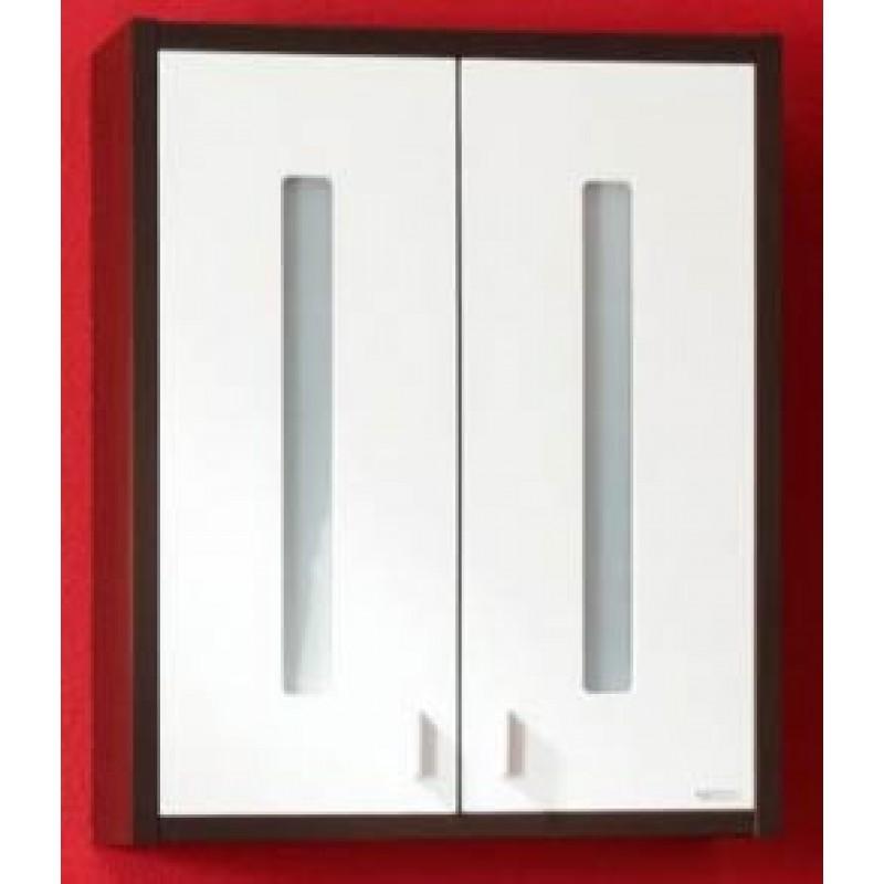 Бали 60 Корпус венге, фасад белый левыйМебель для ванной<br>Навесной шкаф Бали 60 с двумя распашными дверками. Размер: 630х260х760 мм.<br>