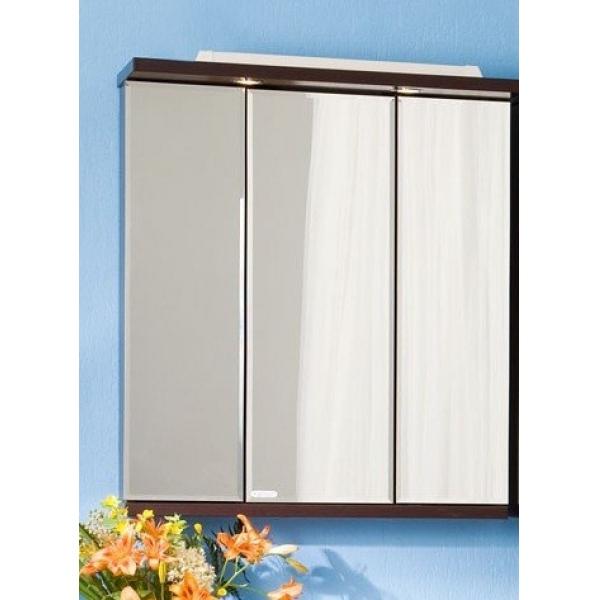 Бали 75 Корпус венгеМебель для ванной<br>Зеркало-трюмо Бали 75 трехстворчатое. Размер: 750х840х305 мм.<br>