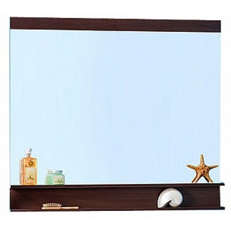 Куба 120 ВенгеМебель для ванной<br>Зеркало с нижними полочками Куба 120. Размер:1200х1000х120 мм.<br>