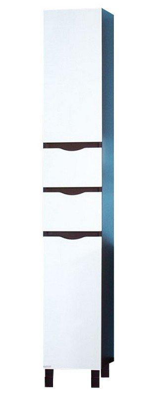 Токио 32 Фасад белый, корпус венге правыйМебель для ванной<br>Напольный пенал с бельевой корзиной Токио 32. Размер:320х2000х320 мм.<br>
