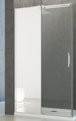 Espera KDJ 1000х800 1/2 зеркальное левоеДушевые ограждения<br>Одностворчатые двери Radaway KDJ 1000х800 1/2 арт.380130-71L. Толщина стекла 8 мм, профиль хромированный. Размер: 1000х200 мм.<br>