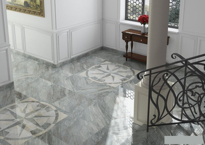 Керамогранит Arcana Ceramica Marble Rosone - R Imperiale 118.6x118.6 панно цена