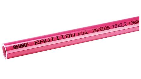 Труба Rehau Rautitan pink 16x2.2  - фото