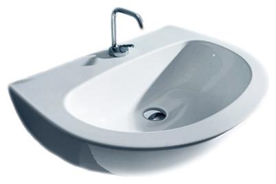 Раковина Kerasan Aquatech 3740 700 мм накладка на ванну kerasan aquatech 3751 тиковое дерево