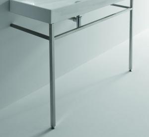 Cento 9121К2 1200х450 ммМебель для ванной<br>Напольная структура для умывальников Kerasan Cento 9123K2, полированный никель, размер 1200х450 мм.<br>