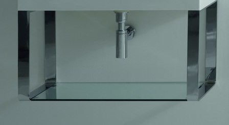 Cento 9125К1  1400х450 ммМебель для ванной<br>Подвесная структура для умывальников из хромированной латуни Kerasan Cento 9128K1, размер 1400х450 мм.<br>