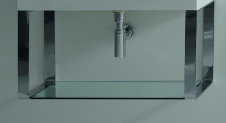 Cento 9125K2 1000х450 ммМебель для ванной<br>Подвесная структура для умывальников, полированный никель, Kerasan Cento 9153K2, размер 1000х450 мм.<br>