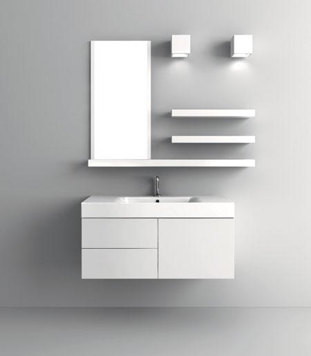 Cento 9155  белая глянцеваяМебель для ванной<br>Тумба под раковину  Kerasan Cento 9155, размер 1000х450 мм. Цвет белый глянцевый.<br>