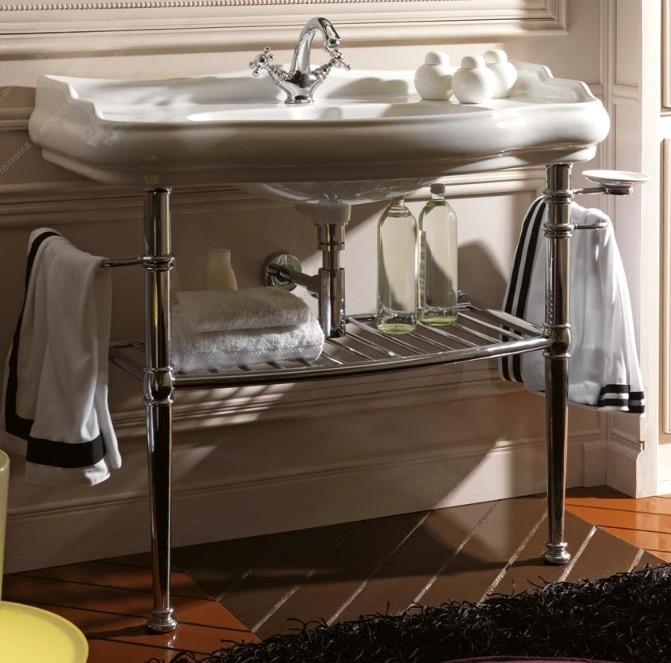Retro 7300 ХромМебель для ванной<br>Структура из латуни Kerasan Retro 730090. Цвет хром.<br>