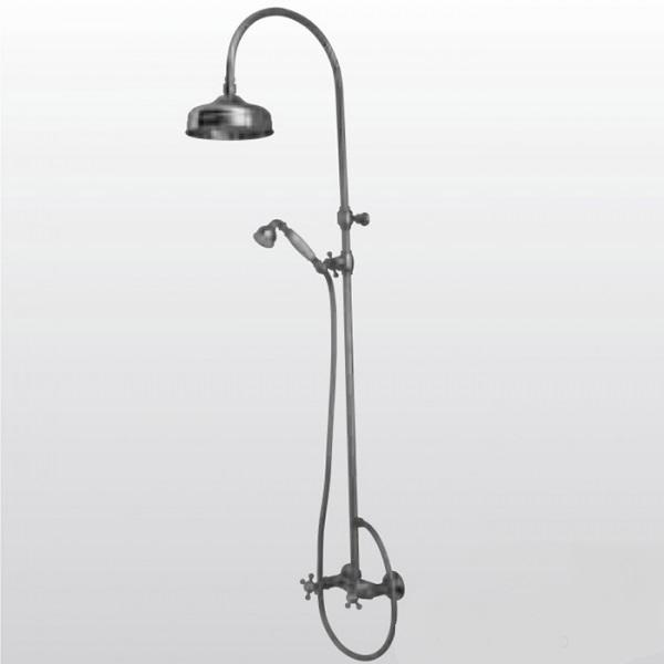 Retro 7398  ХромДушевые системы<br>Душевая система Kerasan Retro 7398К0 с душевой стойкой, верхним душем и ручным душем. Цвет хром.<br>