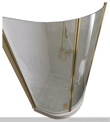 Retro 9151 S1 профиль золото стекло матовоеДушевые ограждения<br>Душевой уголок Kerasan Retro 9151 S1. Профиль золото, стекло матовое.<br>