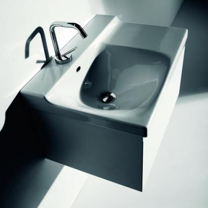 Buddy 9107 600 ммМебель для ванной<br>Тумба под раковину Kerasan Buddy 9107 подвесная. Цвет белый глянцевый.<br>