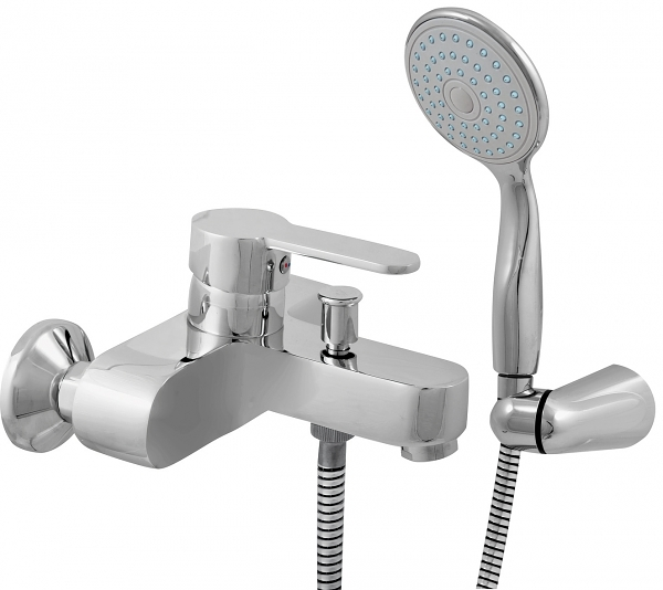 Zambezi ZA054.5/2 ХромСмесители<br>Rav Slezak Zambezi ZA054.5/2 смеситель для ванны. Душ в комплекте. Шланг – 150 см. Подвижный держатель. Установка на стену.<br>