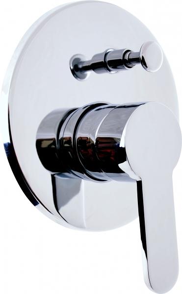 Zambezi ZA086 ХромСмесители<br>Rav Slezak Zambezi ZA086 смеситель для душа и ванной с переключателем. Скрытый монтаж.<br>